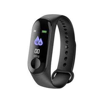 M3 Bluetooth Smart Bracelet Fitness Watch Heart Rate Monitor Step Counter Blood Pressure Waterproof Activity Tracker Message Reminder Smart Bracelet with Android iOS Smartphone for Men Women