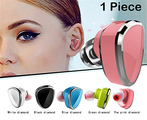 Sound Force Single Earbud Wireless Bluetooth 41 For Women Men LQQK And Feel Amazing Works On Apple Android Cell Phone  Mic For Hands Free Calling 5 incredible Colors And USB Bracelet Charger