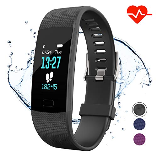 Apirka Fitness Tracker HR Activity Tracker Watch with Heart Rate Monitor IP67 Waterproof Pedometer Sleep Monitor Step Counter Calories Counter for Women Men Kids
