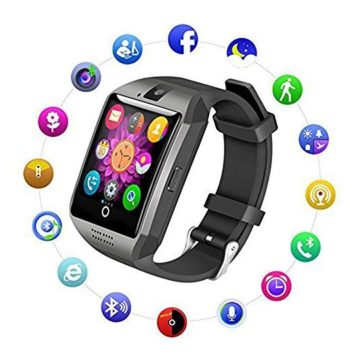 Bluetooth Smart Watch Fitness Tracker  Sport Watch Touch Screen with Camera Pedometer Sleep Monitor Call Message Reminder Music Player AntiLost  Compatible Android Smartwatches