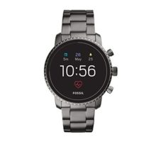 Fossil Men Gen 4 Explorist HR Stainless Steel Touchscreen Smartwatch Color Smoke Grey