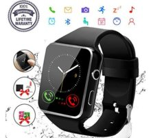 Smart WatchBluetooth Smartwatch Touch Screen Wrist Watch with Camera SIM Card SlotWaterproof Phone Smart Watch Sports Fitness Tracker Compatible Android Phone iOS Phones Black