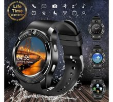Smart WatchBluetooth Smartwatch Touch Screen Wrist Watch with Camera SIM Card SlotWaterproof Smart Watch Sports Fitness Tracker Compatible with Android iOS Phones Samsung Huawei