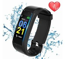 Swimmaxt Fitness Tracker Watch Smart Fitness Band with Heart Rate Monitor Waterproof Activity Tracker Watch with Step Counter Calorie Counter Pedometer Watch for Kids Women and Men