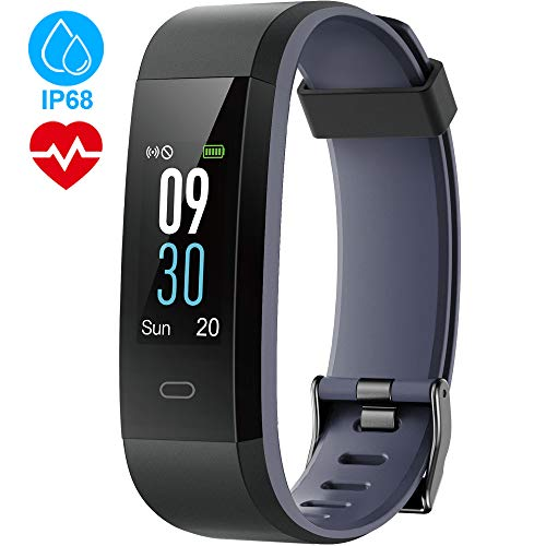 Tepoinn Fitness Tracker with Heart Rate Monitor Activity Tracker Fitness Watch Waterproof IP68 Color Screen Step Counter Calorie Counter Call SMS SNS Push Pedometer Watch for Kids Women and Men