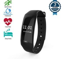 Fitness Tracker,Activity Tracker with Heart Rate Monitor Watch Waterproof Smart Fitness Band with Sleep Monitor Calorie Counter Step Counter Suitable for Kids Women and Men