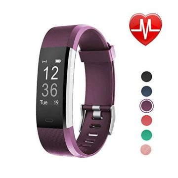 LETSCOM Fitness Tracker HR with Heart Rate Monitor Activity Tracker Watch with Step Counter Calorie Counter Pedometer Watch for Kids Women and Men