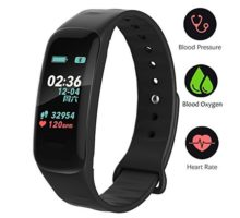 VSDG Fitness TrackerColor Screen Activity Tracker Watch with Blood Pressure Blood Oxygen IP67 Waterproof Smart Band with Heart Rate Sleep Monitor Calorie Counter Pedometer for Men Women and Kids