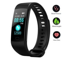 BONNIEWAN Fitness Tracker with Heart Rate Color Screen Activity Tracker and Blood Pressure Monitor IP67 Waterproof Sleep Monitor Calorie Counter Pedometer 4 Sport Mode for Kids Women Men