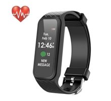 Fitness Tracker Waterproof Smart Fitness Band with Step Counter Calorie Counter Heart Rate Monitor Activity Tracker Watchr for Men Women ‎Kids(Black)
