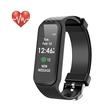 Fitness Tracker Waterproof Smart Fitness Band with Step Counter Calorie Counter Heart Rate Monitor Activity Tracker Watchr for Men Women Kids(Black)