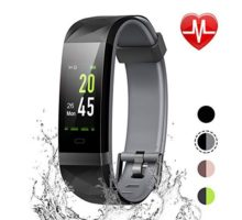 LETSCOM Fitness Tracker Color Screen IP68 Waterproof Activity Tracker with Heart Rate Monitor Sleep Monitor Step Counter Calorie Counter Smart Pedometer Watch for Men Women Kids