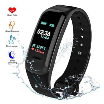 Fitness Tracker HR Activity Tracker  Watch with Blood Pressure Monitor IP67 Waterproof Activity Tracker with Heart Rate Sleep Monitor Calorie Pedometer for Kids Men and Women