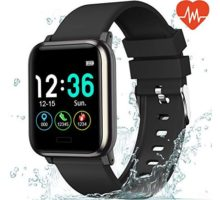 "L8star Fitness Tracker Heart Rate Monitor13"" Large Color Screen IP67 Waterproof Activity Tracker with 6 Sports ModeSleep MonitorPedometer Smart Wrist Band for Women Men Android iOS"
