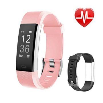 Letsfit Fitness Tracker HR Activity Tracker Watch with Heart Rate Monitor Pedometer Sleep Monitor 14 Sports Modes Step Counter Calorie Counter IP67 Waterproof Fitness Watch for Kids Women Men