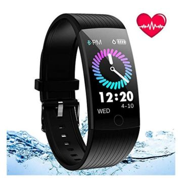 ANSGEC Fitness Tracker Activity Tracker Watch with Heart Rate Monitor Color Screen Smart Bracelet with Sleep MonitorIP67 Waterproof Smart Bracelet for Android and iOS