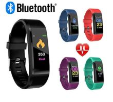 CNPGD Smartwatch Bracelet Fitness Tracker Sports Waterproof Color Touchscreen Heart Rate & Blood Pressure Monitor Pedometer Compatible for IOS IPHONE Android