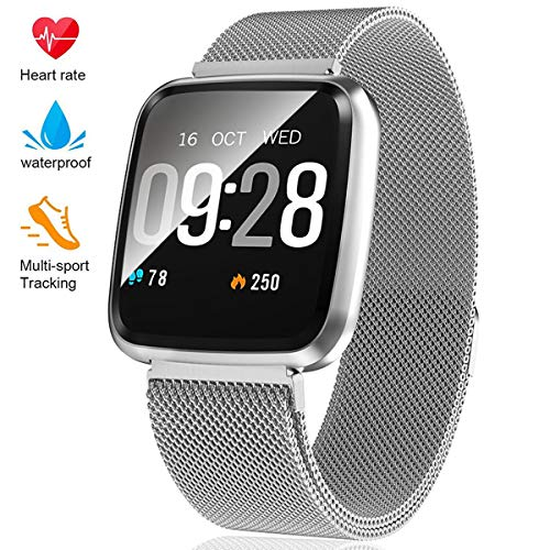 Fitness Tracker  Activity Tracker with Step Counter  Waterproof SmartWatch with Heart Rate Monitor  Fit Watch Sleep Monitor Step Counter for Android & iPhone