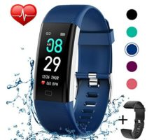 Fitness Tracker IP68 Waterproof Activity Tracker Fitness Watch with Heart Rate Blood Pressure Monitor Step Counter Calorie Counter Pedometer Activity Watch Tracker for Men Women Kids