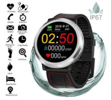 Fitness Tracker with Heart Rate Monitor Blood Pressure Sleep Monitor Calorie Bluetooth Smartwatch Activity Tracker Sports Bracelet IP68 Waterproof Pedometer Watch Wristband for Kids Women Men