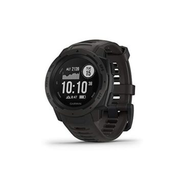 Garmin Instinct Rugged Outdoor Watch with GPS Features GLONASS and Galileo Heart Rate Monitoring and 3axis Compass Graphite