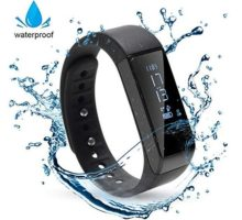 HK Bluetooth Waterproof Fitness Watch for Women with Sleep Tracker Smart Wrist Heart Rate Sleep Monitor Activity Band Calorie Step Counter for iPhone Android w Touch Screen