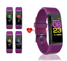 HK Fitness Tracker HR Activity Tracker Watch with Heart Rate Blood Pressure Monitor Waterproof Smart Bracelet Wrist Band with GPS Step Calorie Counter Pedometer Watch for Kids Women MenPurple