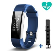 JoyGeek Fitness Tracker Heart Rate Monitor Smart Bracelet Bluetooth Smart Watch with Sleep Monitor Pedometer GPS Call SMS Reminder for iPhone X 8 8plus 7 Samsung S8 Note 8