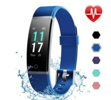 LETSCOM Fitness Tracker HR Color Screen Activity Tracker with Heart Rate Monitor and Sleep Monitor IP68 Waterproof Pedometer Watch Step Counter Calorie Counter for Women Men Kids