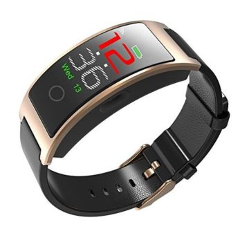 luckyruby CK11C Bluetooth 40 Smart Watch Bracelet Blood Pressure Tracker IP67 Waterproof Full Touch Color LCD Smart Bracelet Pedometer Wristband for iOS & Android