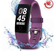 MorePro Fitness Tracker Waterproof Activity Tracker with Heart Rate Blood Pressure Monitor Color Screen Smart Bracelet with Sleep Tracking Calorie Counter Pedometer Watch for Kids Women MenPurple
