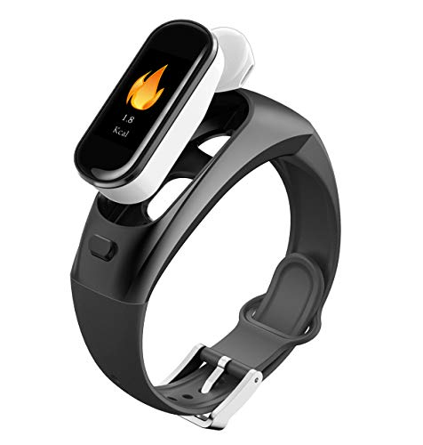 PADYWearable Technology H109 Fitness Tracker Talk Band 096 Inch TFT Color Screen Smart Bracelet 2in1 Separate Heart Rate Blood Pressure Monitoring Caller Bluetooth Headset Bracelet