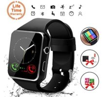 Smart WatchBluetooth Smartwatch Touch Screen Wrist Watch with Camera SIM Card SlotWaterproof Smart Watch Sports Fitness Tracker Android Phone Watch Compatible with Android Phones Huawei Samsung