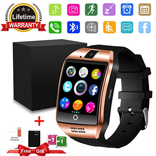 Smart WatchBluetooth SmartWatch with Camera TouchscreenSmart Watches Waterproof Unlocked Phones Watch with SIM Card SlotSmartWatches Compatible with Android Phone XS 8 7 6 Samsung Men Women