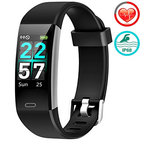 VIEWOW Fitness Tracker HR Activity Tracker Watch  2019 New IP68 Smart Bracelet with Heart Rate Color Monitor Step Counter Calorie Counter Pedometer Watch with 14 Sports Modes for Kids Women Men