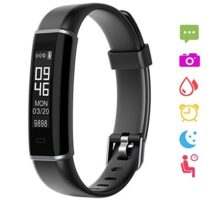 XGODY ID130HR Fitness Tracker Heart Rate Monitor Waterproof Activity Tracker Watch Sleep Monitor Touch Screen Smart Bluetooth Bracelet Fitness Band For Women Kids Android and Ios(Black)