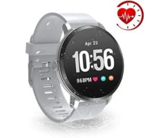 YoYoFit Smart Fitness Watch with Heart Rate Monitor Waterproof Fitness Activity Tracker Step Counter with Music Player Control Customized Face Look GPS Pedometer Watch for Women Men Grey