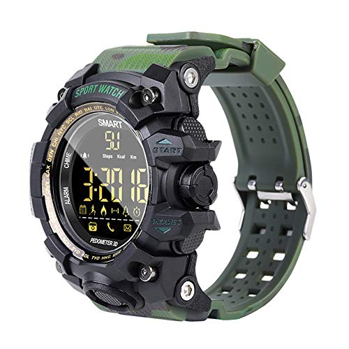 ZKxl8ca EX16S Sports Smart Bracelet Watch Waterproof Bluetooth Pedometer Call Reminder Camouflage Green
