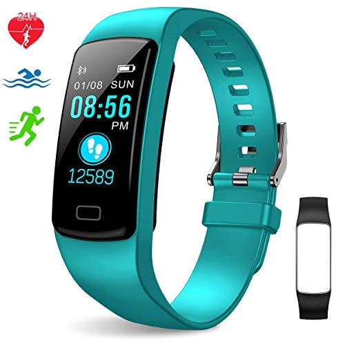 EpochAir Fitness TrackerColorful Screen Activity Tracker with Heart Rate Monitor Waterproof Pedometer Watch with Sleep Monitor Step Counter for Kids Women Men Gifts