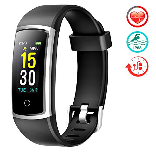 FITFORT Fitness Tracker with Blood Pressure HR Monitor  2019 Upgraded Activity Tracker Watch with Heart Rate Color Monitor IP68 Pedometer Calorie Counter for Women Kids Men