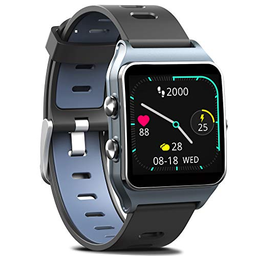 FITVII GPS Smartwatch with 17 Sports Mode Activity Tracker IP68 Waterproof Swimming Touch Screen Watches Heart Rate Monitor Sleep Trackers with Pedometer Step Calories Counter for Women Men