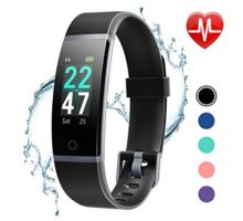 LETSCOM Fitness Tracker with Heart Rate Monitor Color Screen Activity Tracker Watch IP68 Waterproof Pedometer Watch Sleep Monitor Step Counter for Women Men Kids