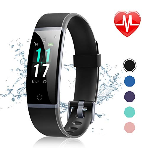 Letsfit Fitness Tracker Activity Tracker Watch with Heart Rate Monitor Waterproof IP68 Smart Watch with Step Counter Calorie Counter Call & SMS Pedometer Watch for Women Men Kids