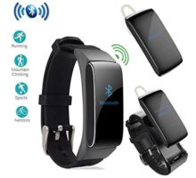 luckyruby 2 in 1 DF22 Bluetooth Headset Smart Bracelet Handsfree Smart Watch Fitness Headset Earphone for Android