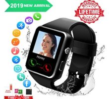 Android Smart Watch for Women Men 2019 Bluetooth Smartwatch Smart Watches Touchscreen with Camera Cell Phone Watch with SIM Card Slot Compatible Android Samsung iOS Phones XS 8 7 6 Note 8 9 Adult
