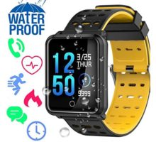 Fitness Tracker Smart Watch with Heart Rate Blood Pressure Sleep Monitor Color Screen Calorie Counter Pedometer IP68 Waterproof Activity Tracker Outdoor Sport Bracelet Birthday Gift for Women Men
