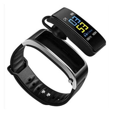 Pesly 2in1 Smart Bracelet with Bluetooth Earphone Waterproof Smart Watch Bracelet