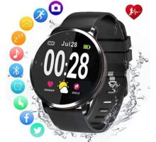 Amerzam Smart Watch for Android iOS Phones,Activity Fitness Tracker Waterproof with Heart Rate Monitor Sleep Tracker Step Counter for Women and Men