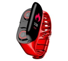 BITUBITU M1 AI Smart Watch Wristband Bluetooth Earphone Two in One Sports Bracelet Fitness Tracker Heart Rate Monitor