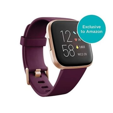 Fitbit Versa 2 Health & Fitness Smartwatch with Heart Rate Music Alexa Builtin Sleep & Swim Tracking Bordeaux Copper Rose One Size
